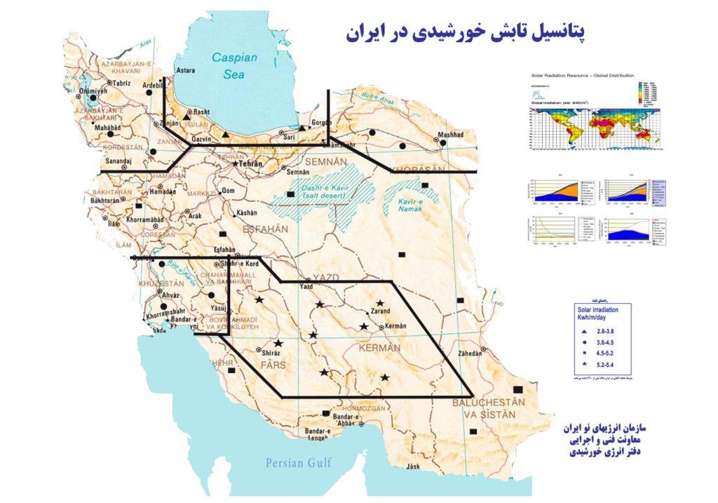 پتانسیل تابش در ایران